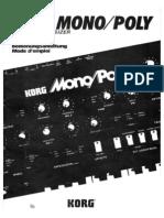 Korg Mono Poly Manual