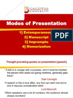 Modes of Presentation