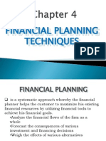 5 - Financial Planning Techniques