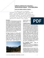 The World Bank and Extractive Industries – the Divisive 'Demonstration Impact' of the Marlin Mine