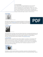 10 Influential Thinkers in Psychology