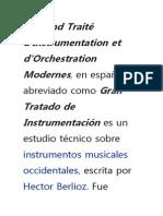 El Grand Traité d'Instrumentation Et d'Orchestration Modernes