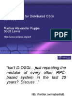 Best Practices With Distributed OSGi