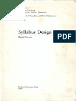 Syllabus Design (Nunan)