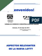 15-05-2012-Nva LOTTT Def Camara de Comercio Acarigua Araure