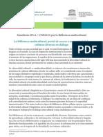 Multicultural Library Manifesto-es