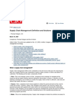 Supply Chain Management Definition and Solutions