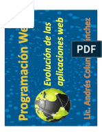 1.- Evolucion Aplicaciones Web