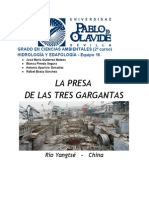 Hidrología - Presa 3 Gargantas