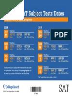 SAT Test Dates 2014 15 Final