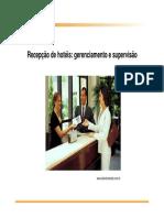 Recepção de Hotéis - Gerenciamento e Supervisão
