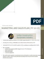 88855280 Marketing Plan Construction Machinery