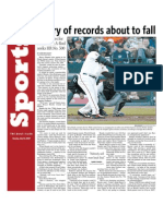Flurry of Baseball Records About To Fall