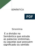 slide SEMÂNTICA