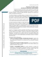 Nota de Prensa Postura 16