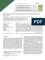 280] 2011 Kupeli Akkol - Assessment Dermal Wound Healing in Vitro Antioxidant Properties Avena Sativa