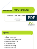 Easy paisa Money Transfer Product - Presentation