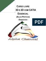 Cad 3d e 2d - Catia - Exercícios