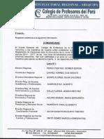 Listas Habilitadas - Región Arequipa