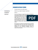 5 Facilitator Observation Form