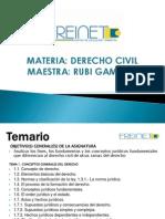 Temario. Derecho Civil