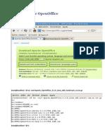 Instalación de OpenOffice