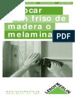 Colocar Planchas de Melamina o Madera