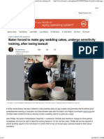 Baker Forced to Make Gay Wedding Cakes, Undergo Sensitivity Training, After Losing Lawsuit _ Fox News