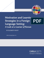 Motivation Learning Strategies Korean Learner