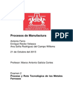 Proyecto Procesos MAnufactura Examen 2!
