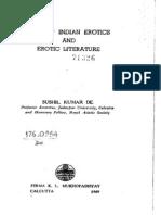 Ancient Indian Erotics and Erotic Literature by Sushil Kumar De