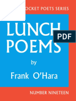 Frank Ohara's Lunch Poems 50th Anniversary Edition