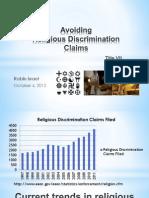 Religious Discrimination Claims