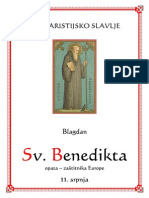 Sv. Benedikt Zaštitnik Europe Misa