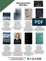 ALA Annual 2014 RHLibrary Book Buzz Handout