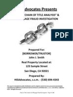 HISA Sample Probative Value Evidence Builder Package