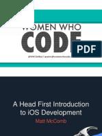 Headfirst Into IOS Development