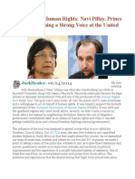 On Universal Human Rights Navi Pillay, Prince Zeid, And Keeping a Strong Voice at the United Nations