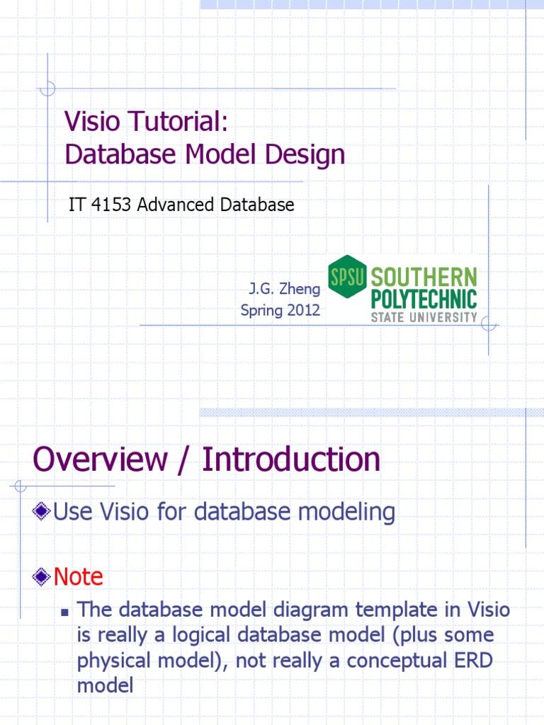 visio db databases data management