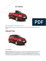 Maruti Offerings