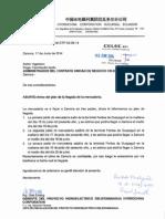 HYDROCHINA-DTP-03!06!14 Aviso Del Plan de La Llegada de La Mercadería