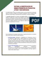 Metodos Para La Identificacion de Microorganismos Presentes en Productos Lacteos y Sus Derivados