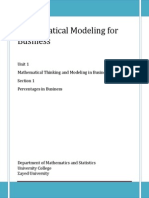 COL112 Unit 1 Mathematical Thinking and Modeling in Business(1)
