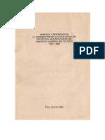 (1980)Memoria y Exposicion de La Comision Tecnica Calificadores de Proyectos Arqueologicos INC (1979-1980) Bonavia Et Al
