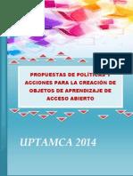 Propuesta de Políticas Para Elaborar OA 19-06-14