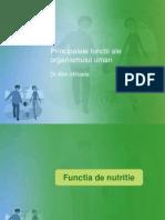 2 Principalele Functii Ale Organismului Uman