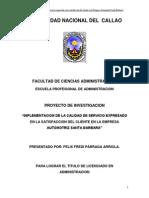 IMPLEMENTACION DE LA CALIDAD DE SERVICIO EN EMPRESA AUTOMOTRIZ