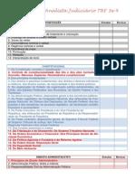 Programa Analista Judiciário TRF 3 e 4