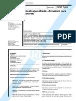 ABNT NBR 7481 - 1990 - Tela de Aço Soldada - Armadura Para Concreto - Especificação