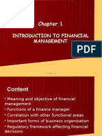 Ch 1 - Introduction to Financial Management
